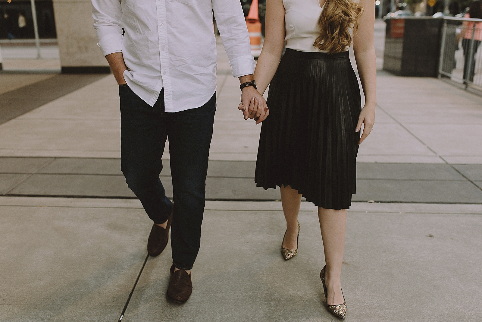 Downtown Houston Engagement Session - 016