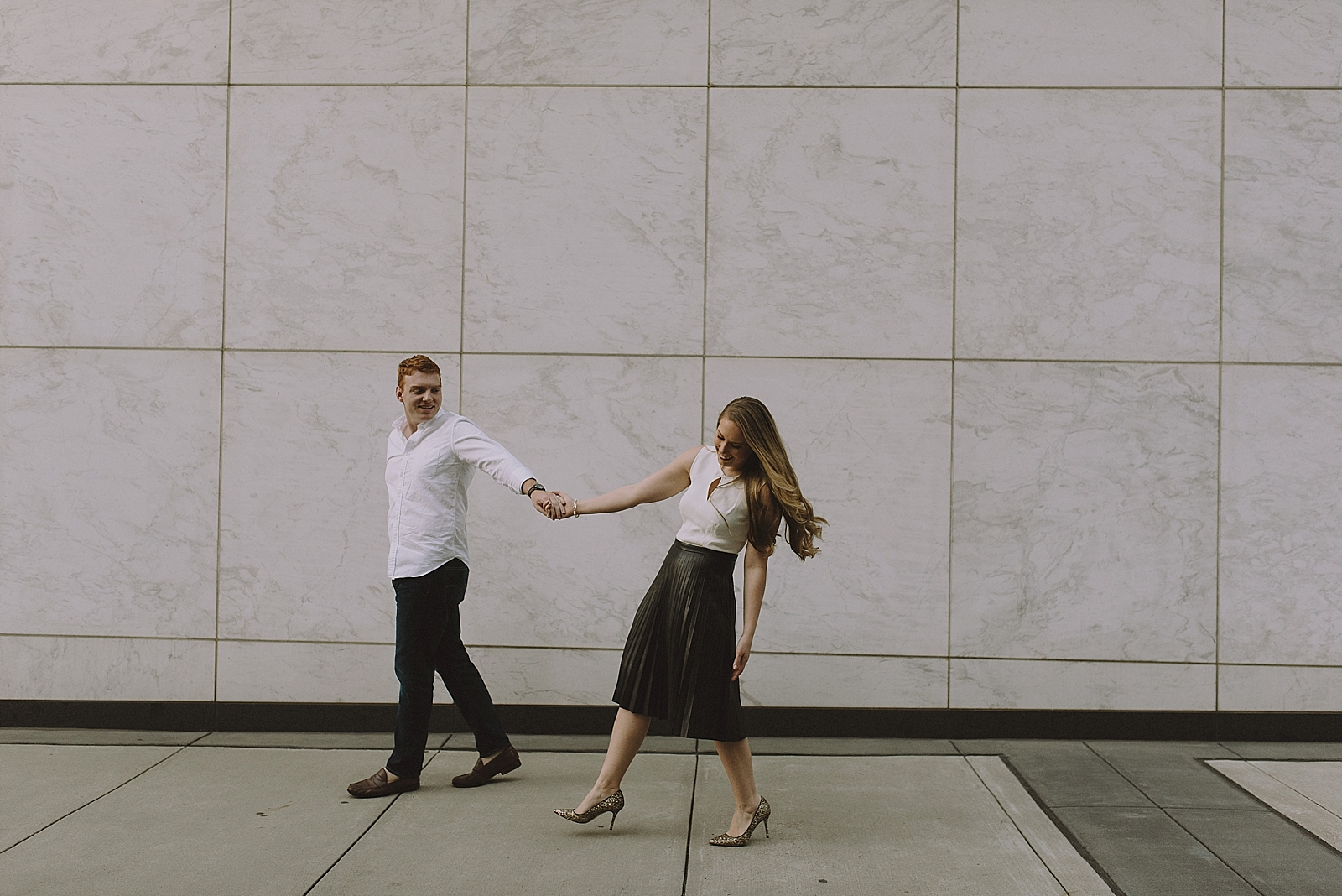 Downtown Houston Engagement Session - 019