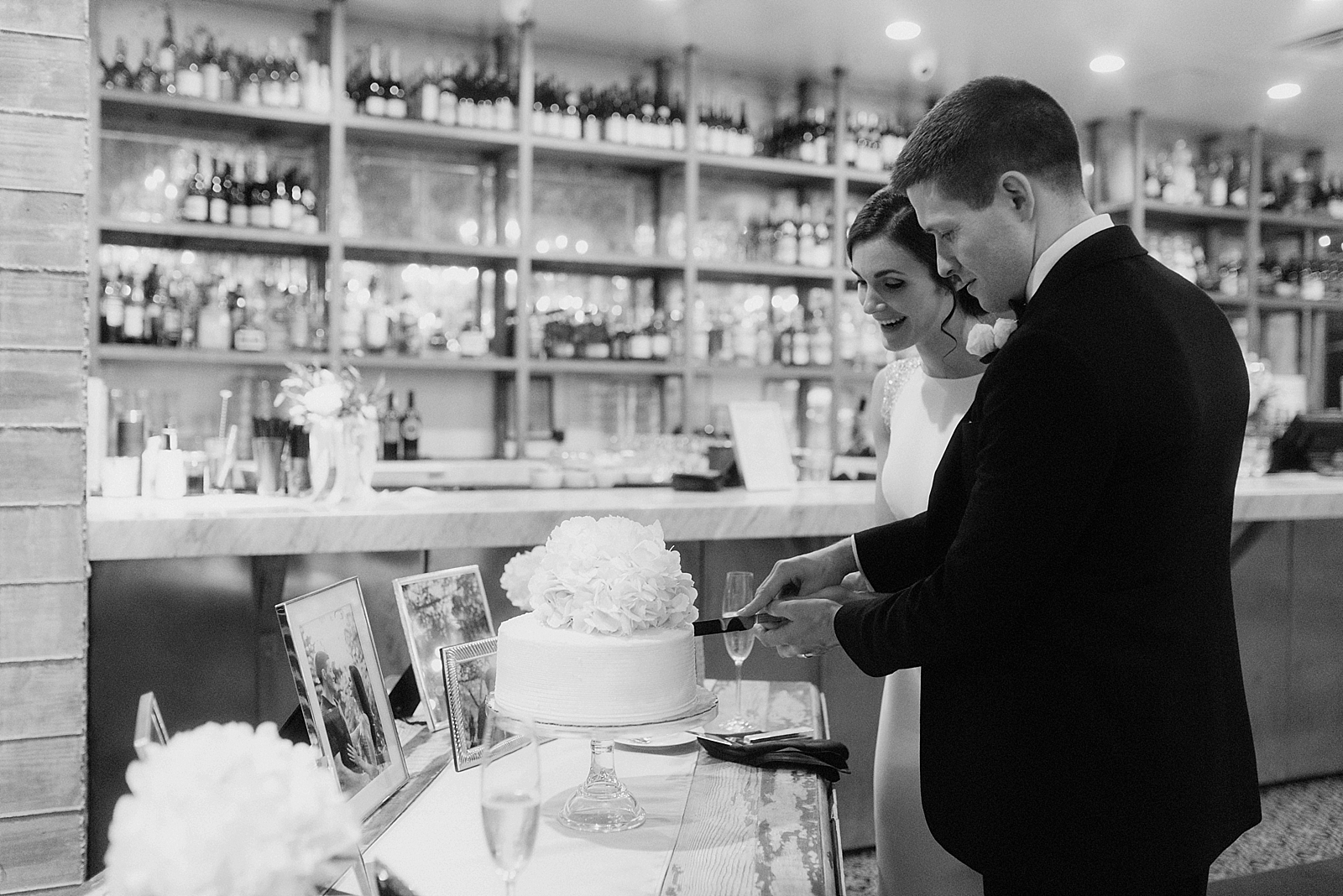 Cake cutting corner by the bar at The Dunlavy near downtown Houston
