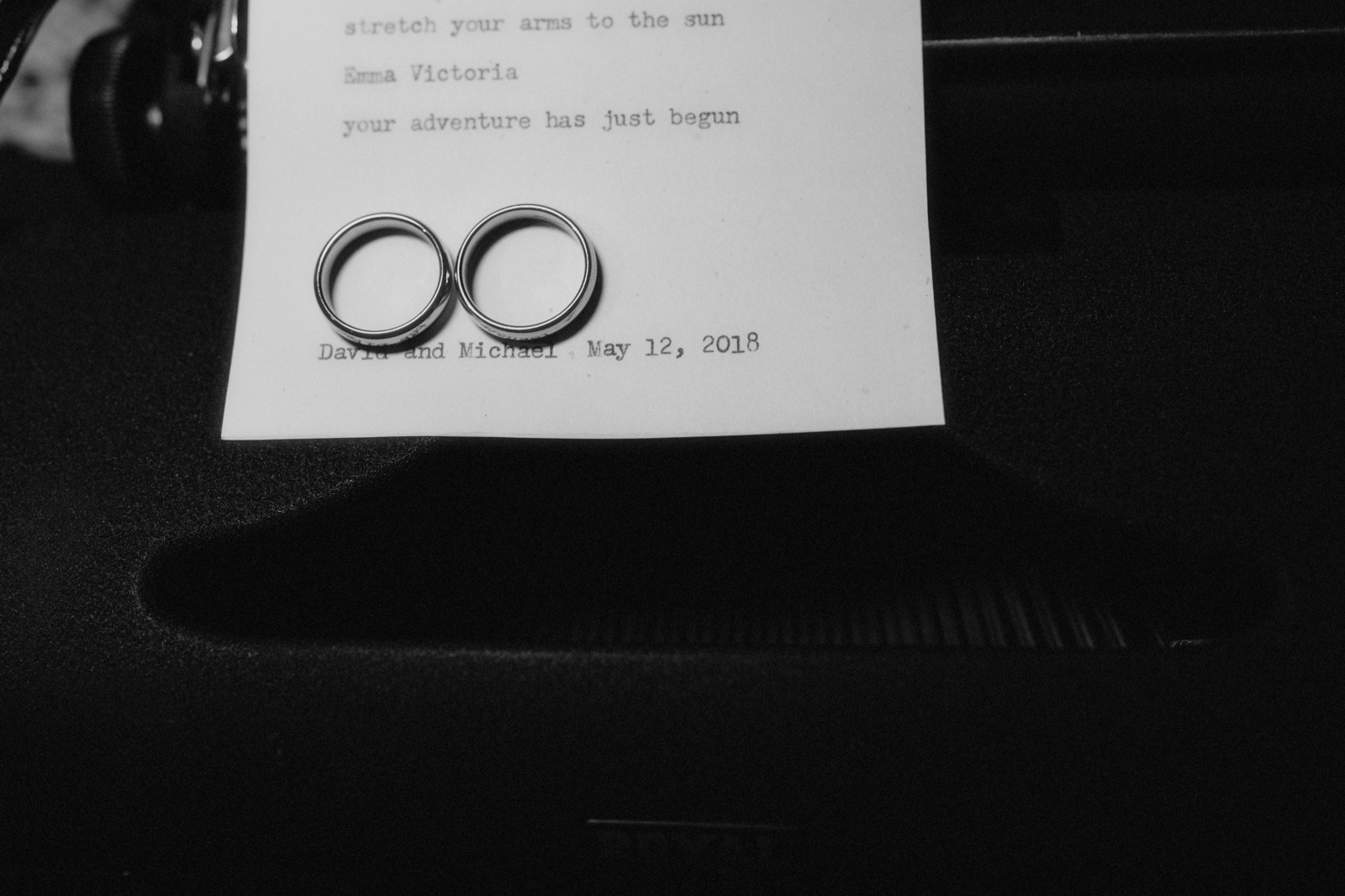 Typewriter ring shot on a poem written by an onsite poet in Austin