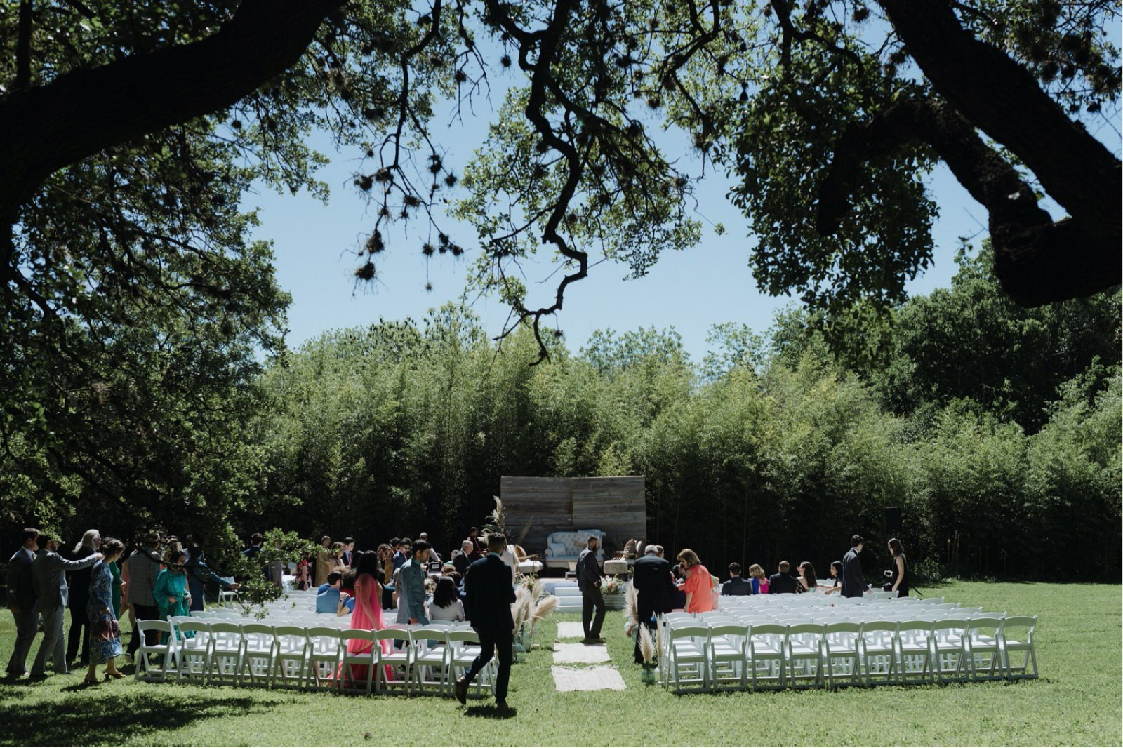 Creative Hindu ceremony layout for a Mattie's at Green Pastures wedding