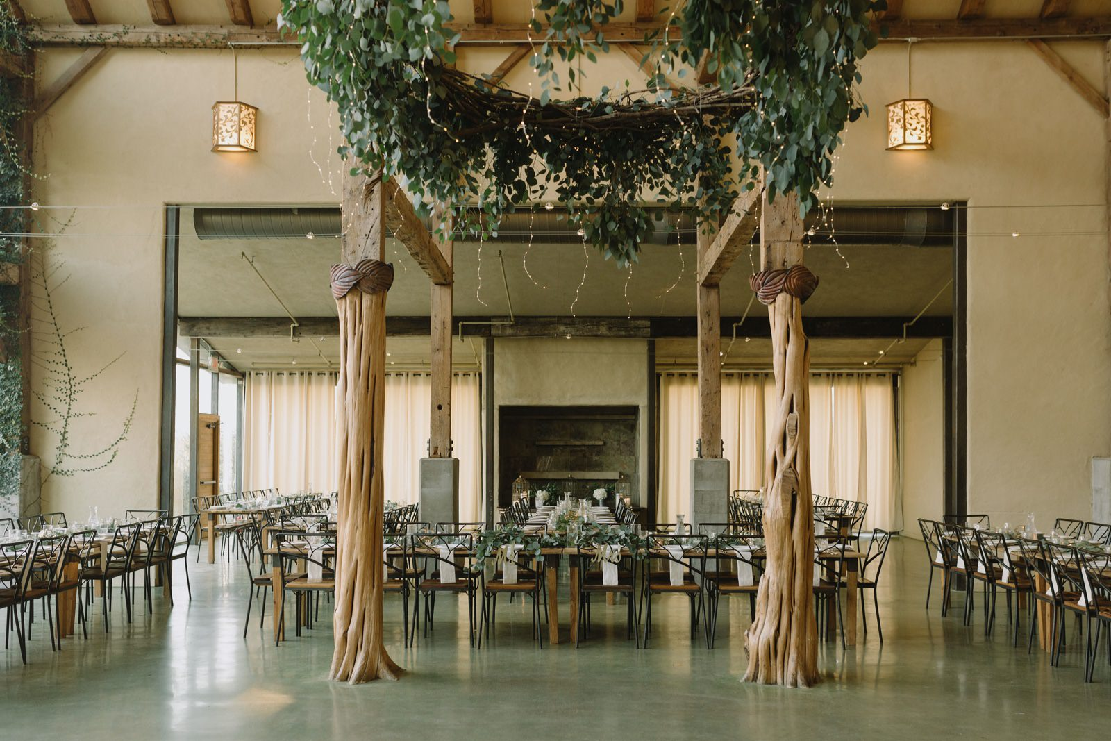 Barr Mansion's ballroom reception space layout for an Austin wedding