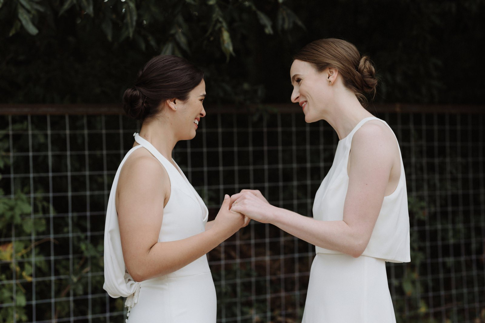 Two brides first look in Austin Texas