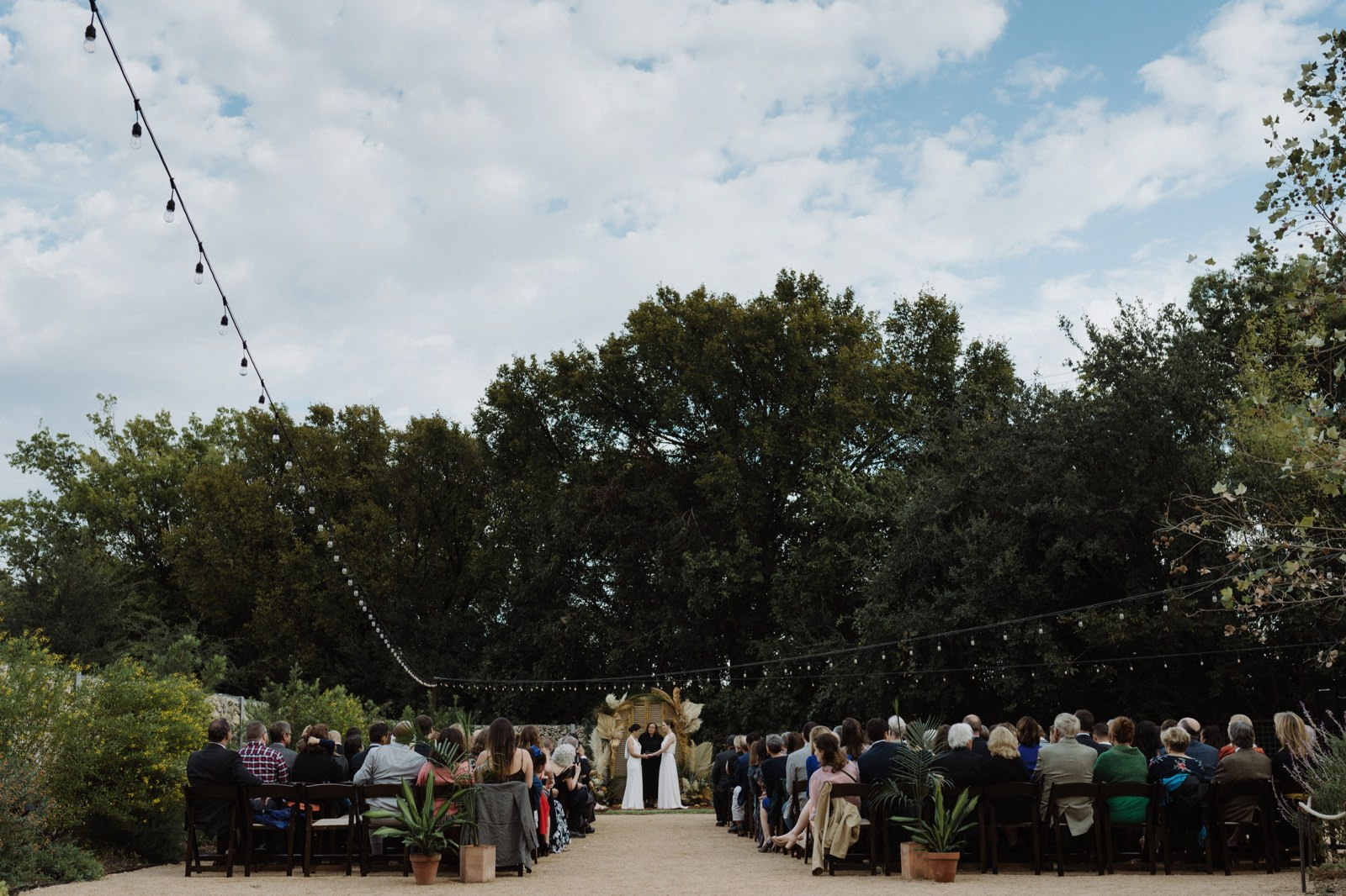 Unique outdoor ceremony inspiration for an East Austin LGBTQ wedding