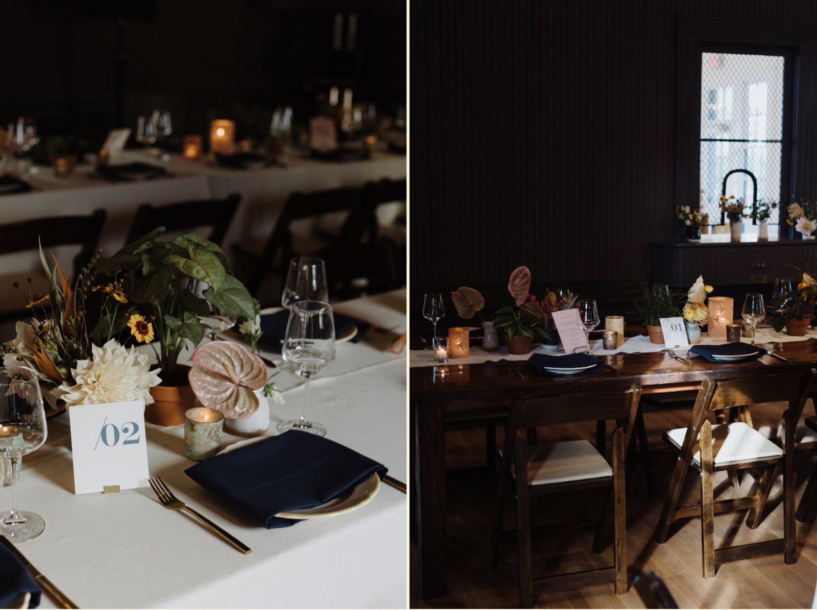 Timeless gold and dark blue wedding decor inspiration