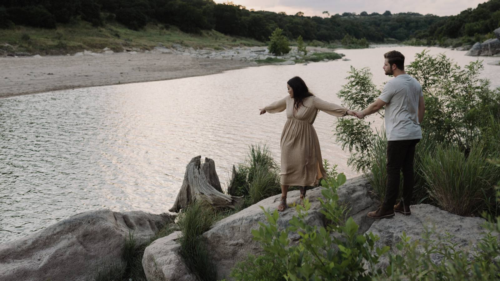 Pedernales Riverside engagement photography session in the Texas Hill Country